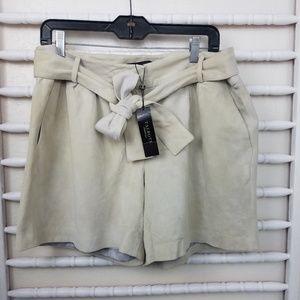 Talbots Shorts - Talbots Leather High Waisted Shorts 12